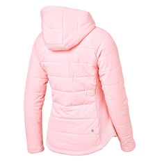Ell & Voo Womens Masey Quilted Jacket Pink XS, Pink, rebel_hi-res