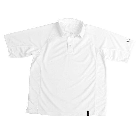 Gray Nicolls Elite Mid Sleeve Senior Cricket Shirt, White, rebel_hi-res