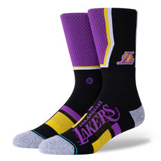 Stance Los Angeles Lakers 2020 Shortcut 2 Socks Purple M, Purple, rebel_hi-res
