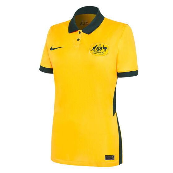Australia 2020/21 Womens Home Jersey, Yellow, rebel_hi-res