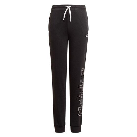 adidas Girls VF Essential Big Logo Pants, Black, rebel_hi-res