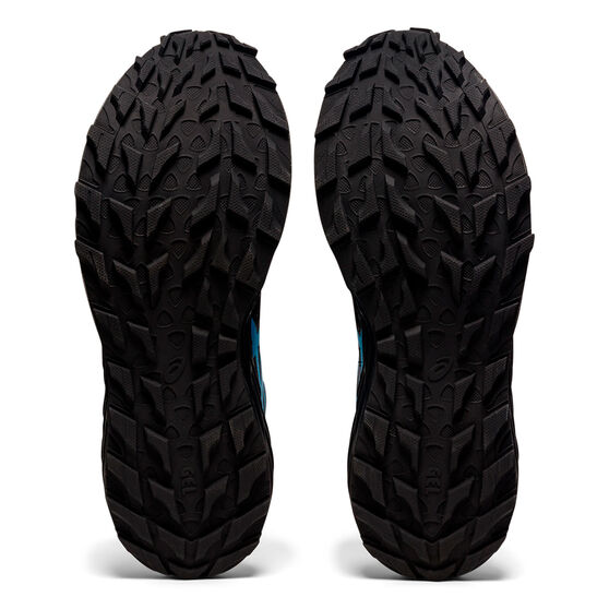 Asics GEL Sonoma 6 Mens Trail Running Shoes, Black/Aqua, rebel_hi-res