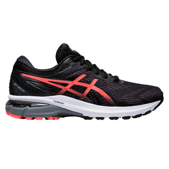 Asics GT 2000 8 D Womens Running Shoes, Black/Red, rebel_hi-res