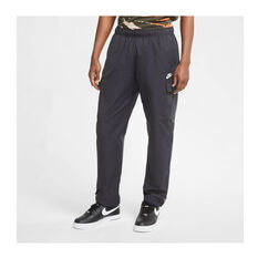 Nike Mens Sportswear Woven Track Pants Black XS, Black, rebel_hi-res