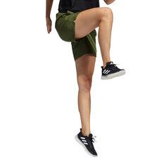 adidas Womens Woven Long Length Shorts, Khaki, rebel_hi-res