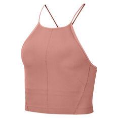 Nike Womens Yoga Infinalon Cropped Tank Pink XS, Pink, rebel_hi-res