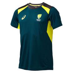 Cricket Australia 2019/20 Mens Training Tee Green S, Green, rebel_hi-res