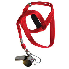 Reliance Brass Whistle with Lanyard, , rebel_hi-res