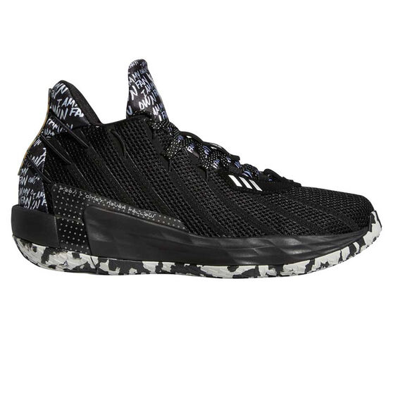 adidas Dame 7 Mens Basketball Shoes, Black/Silver, rebel_hi-res