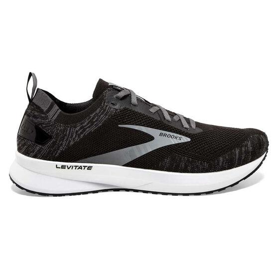 Brooks Levitate 4 Mens Running Shoes, Black/White, rebel_hi-res