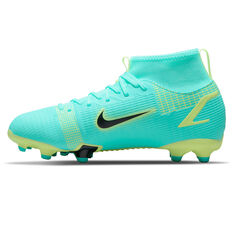 Nike Mercurial Superfly 8 Academy Kids Football Boots Blue/Lime US 1, Blue/Lime, rebel_hi-res