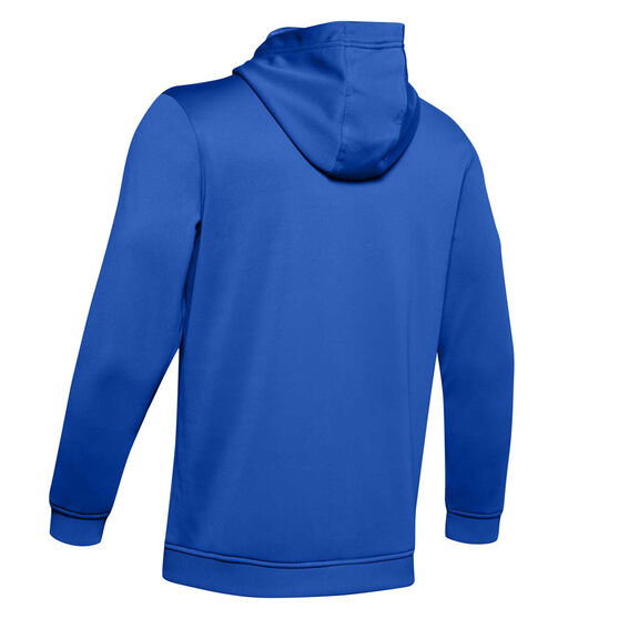 Under Armour Mens Armour Fleece Hoodie Blue L, Blue, rebel_hi-res