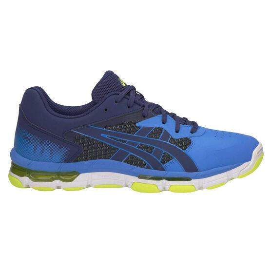 Asics Gel Netburner Academy 8 Womens Netball Shoes, Blue, rebel_hi-res