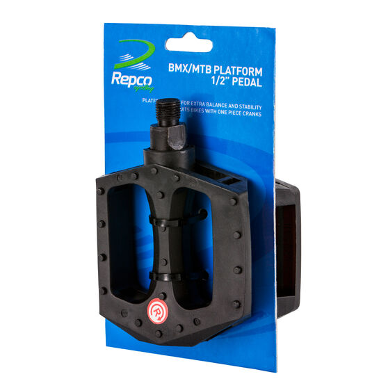 Repco Black BMX and Mountain Bike Pedals, , rebel_hi-res
