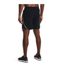 Under Armour Men Launch 7in Running Shorts, Black, rebel_hi-res