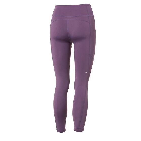 Ell & Voo Womens Kara 7/8 Pocket Tights, Purple, rebel_hi-res