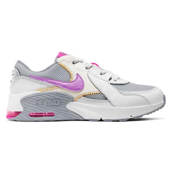 Nike Air Max Excee Kids Casual Shoes, White/Grey, rebel_hi-res