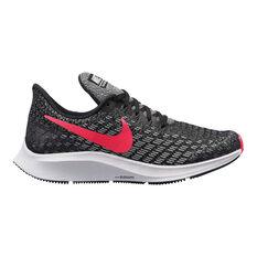 Nike Air Zoom Pegasus 35 Girls Running Shoes Black / Pink US 1, Black / Pink, rebel_hi-res