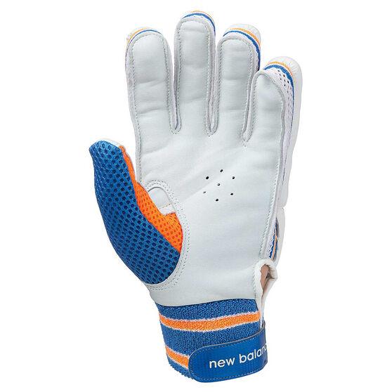 New Balance Junior DC 380 Cricket Gloves, Blue, rebel_hi-res