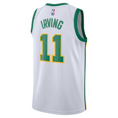 Nike Boston Celtics Kyrie Irving 2019 Mens City Jersey White S, White, rebel_hi-res