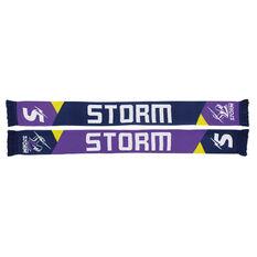 Melbourne Storm Geo Jacquard Scarf, , rebel_hi-res