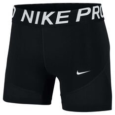 Nike Pro Womens 5in Training Shorts Black / White XS, Black / White, rebel_hi-res