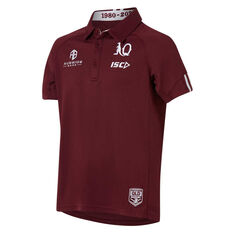 QLD Maroons State of Origin 2020 Kids Performance Polo Maroon 6, Maroon, rebel_hi-res