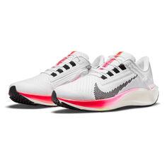Nike Air Zoom Pegasus FlyEase 38 Womens Running Shoes, White/Black, rebel_hi-res