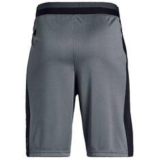 Under Armour Boys Stunt 2 Shorts Grey / Black XS, Grey / Black, rebel_hi-res