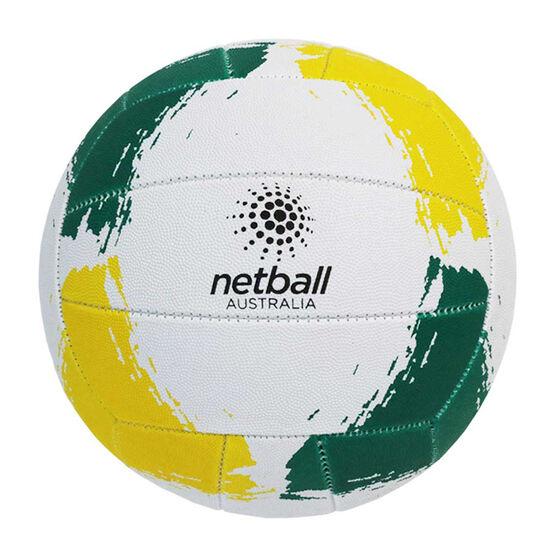 Gilbert Netball Australia Netball, Green / Yellow, rebel_hi-res