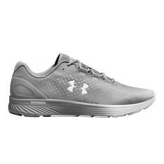 Under Armour Charged Bandit 4 Mens Running Shoes Grey US 7, Grey, rebel_hi-res