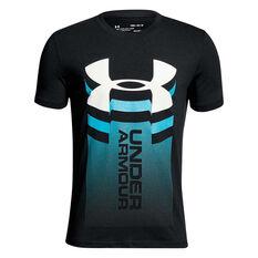Under Armour Boys UA Vertical Logo Tee Black / White X S, Black / White, rebel_hi-res