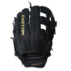 Easton Paragon Cowhide RHT Softball Glove Black 12in, Black, rebel_hi-res
