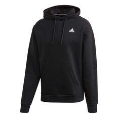 adidas Mens Must Haves 3-Stripes Hoodie Black S, Black, rebel_hi-res