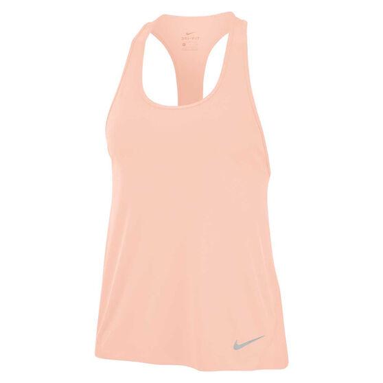 Nike Womens Miler Running Tank Pink XL, Pink, rebel_hi-res