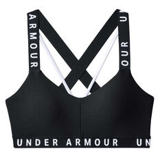 Under Armour Womens Sportlette Sports Bra Black / White XS, , rebel_hi-res