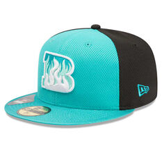 Brisbane Heat New Era 59FIFTY Home Cap Blue 7 1 / 4in, Blue, rebel_hi-res