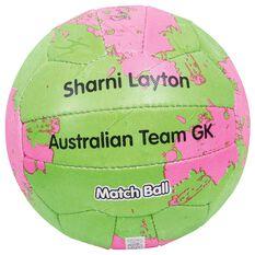 Sharni Layton Match Netball Green / Pink 5, , rebel_hi-res