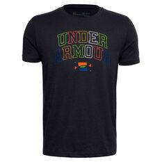 Under Armour Boys Multicolour Wordmark Tee Black XS, Black, rebel_hi-res