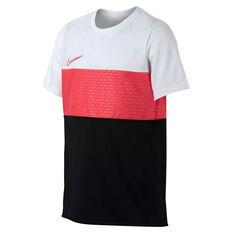 Nike Boys Dri-FIT Academy Tee White / Pink XS, White / Pink, rebel_hi-res