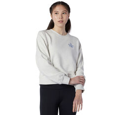 New Balance Womens Athletics Intelligent Choice Sweatshirt, Grey, rebel_hi-res
