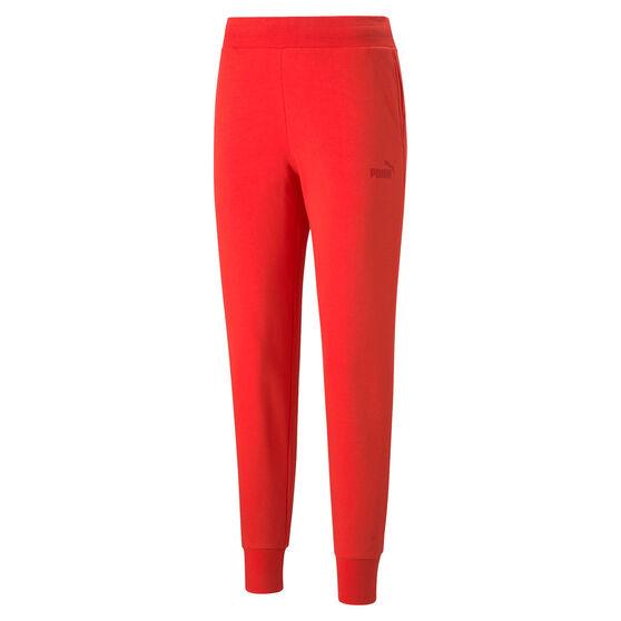 Puma Womens Essentials Sweatpants, Red, rebel_hi-res