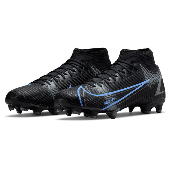 Nike Mercurial Superfly 8 Academy Football Boots, Black/Grey, rebel_hi-res