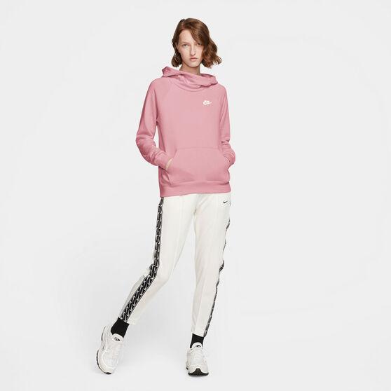Nike Womens Sportswear Essential Funnel Neck Hoodie, Pink, rebel_hi-res