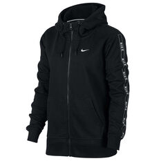Nike Womens Sportswear Full Zip Logo Hoodie Black XS, Black, rebel_hi-res