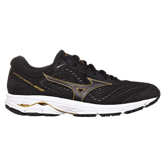 e7e393c5924e Mizuno Wave Rider 22 Mens Running Shoes, Black / Gold, rebel_hi-res
