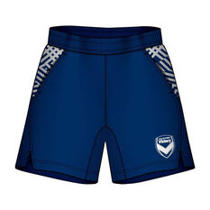 Melbourne Victory Mens Supporter Training Shorts Navy S, , rebel_hi-res