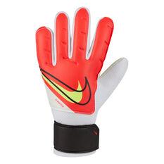 Nike Junior Match Goalkeeping Gloves White/Red 4, White/Red, rebel_hi-res