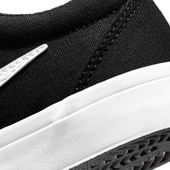 Nike SB Charge Canvas Kids Skateboarding Shoes, Black, rebel_hi-res