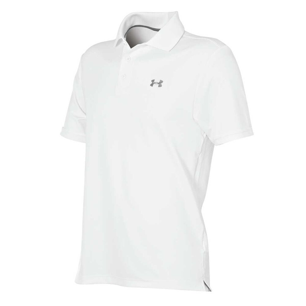f5fc0a62 Under Armour Mens Performance Polo Shirt White M Adult